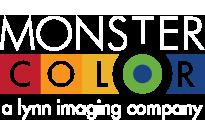 Monster color white menu logo