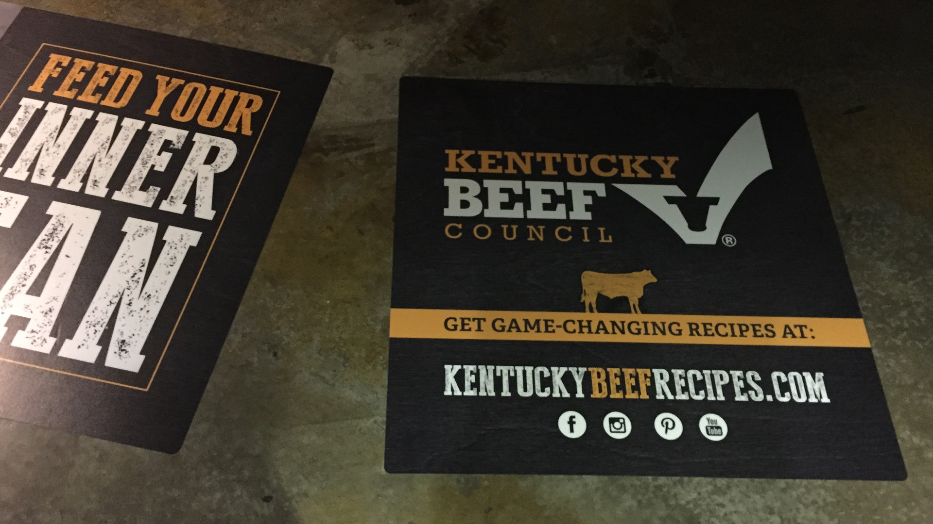 Kentucky Beef Council floor stickers