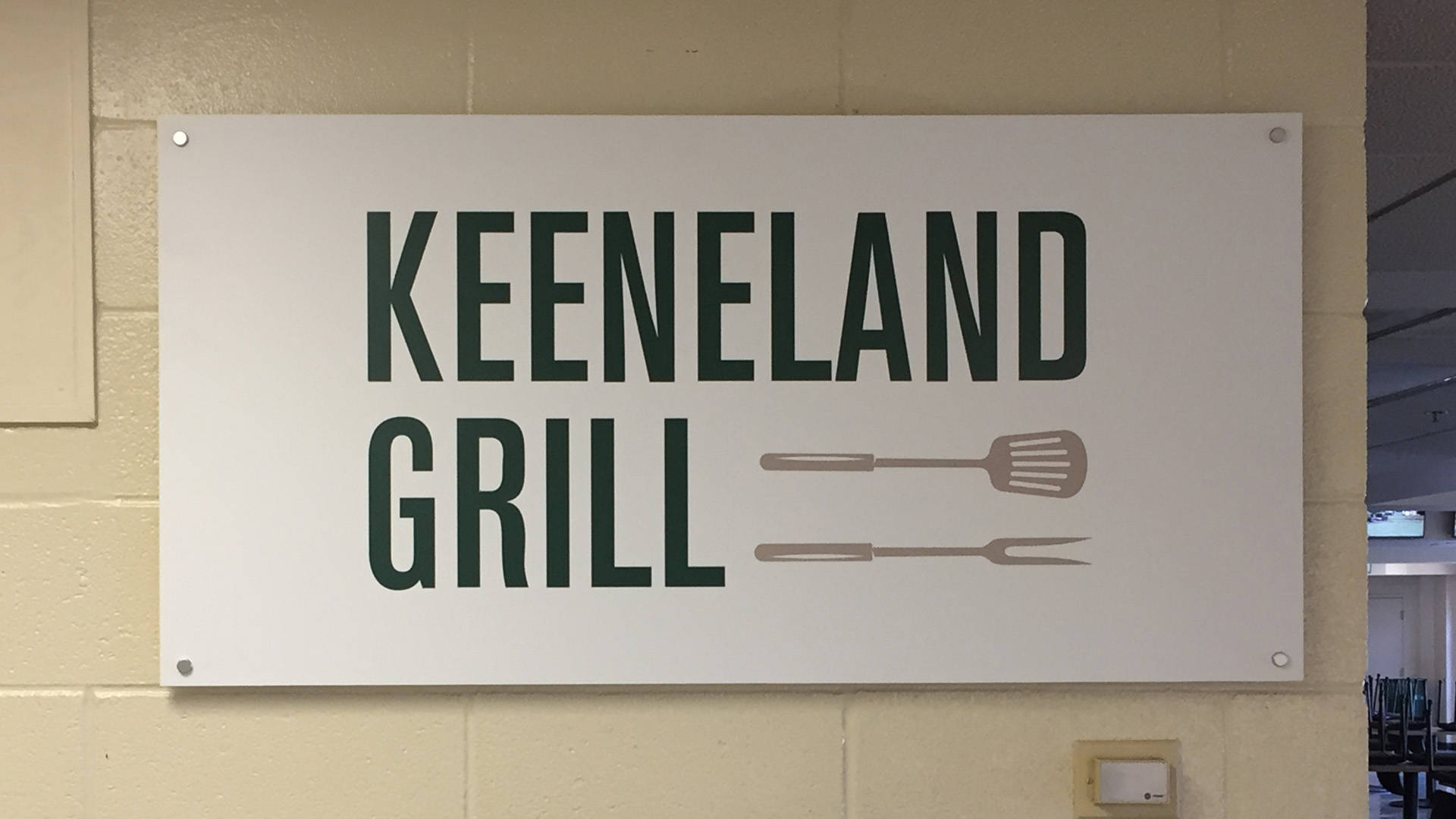 Keeneland Grills signage