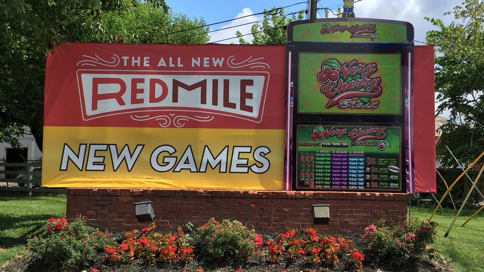 RedMile Game signage