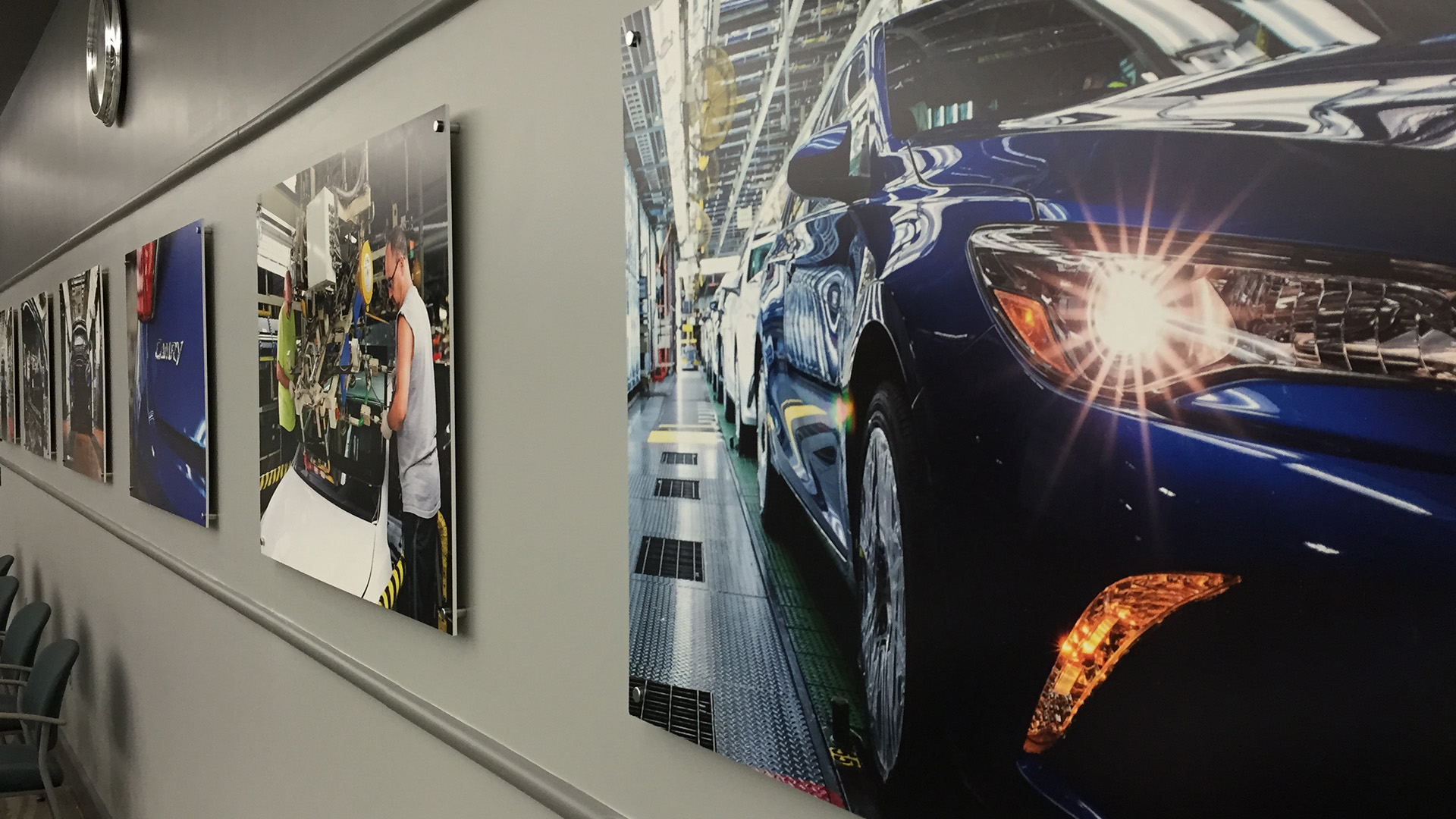 Toyota indoor lobby posters