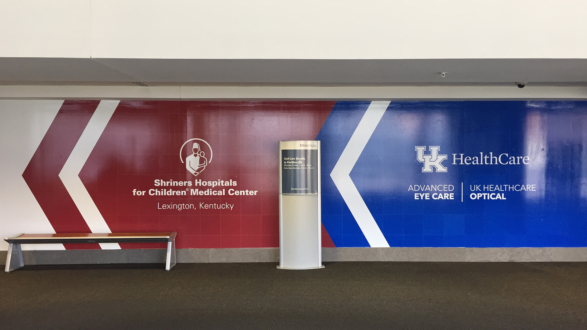 UK healthcare and Shriners Hospital Wall Graphic