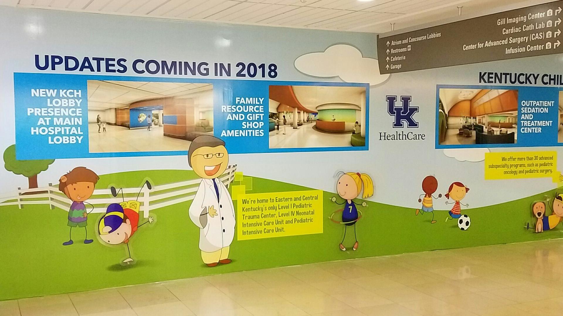 UK Children's Hospital Wall Graphic