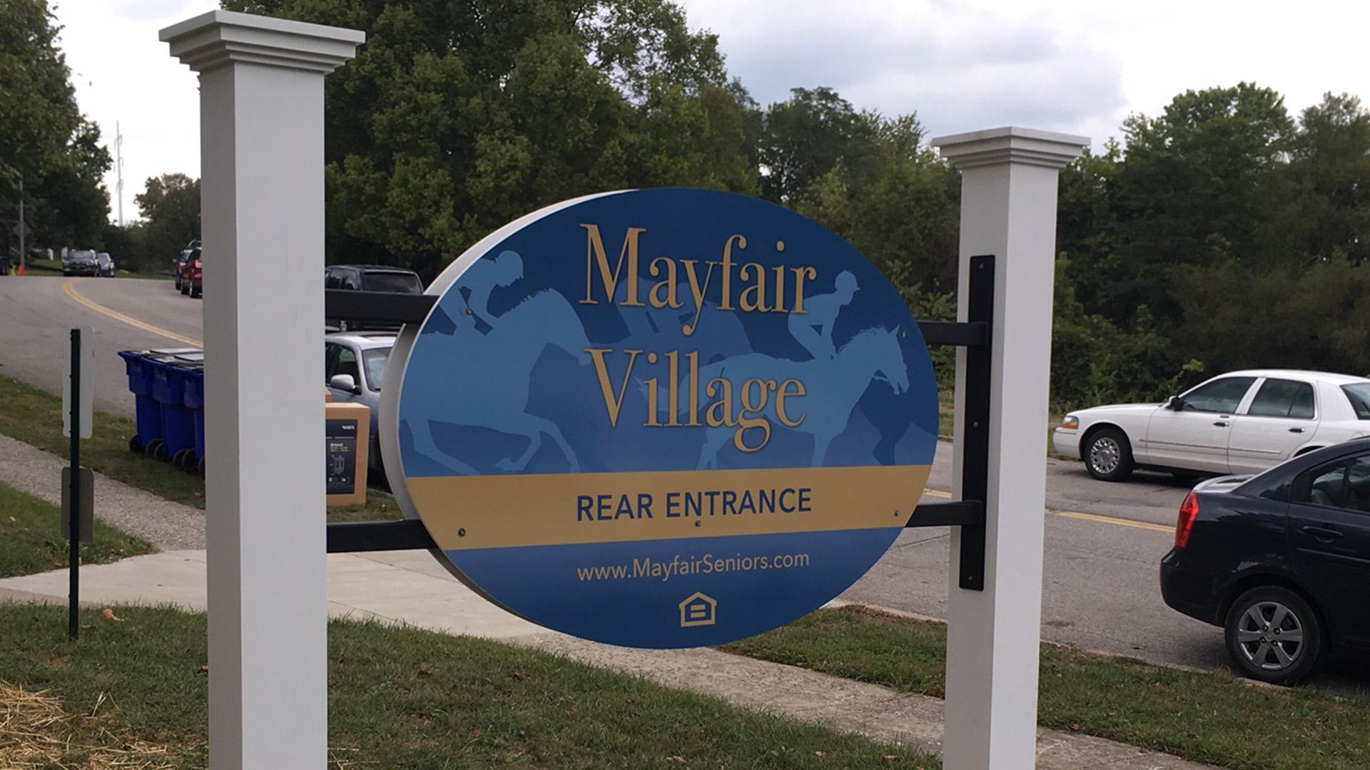 Mayfair Village outdoor sign
