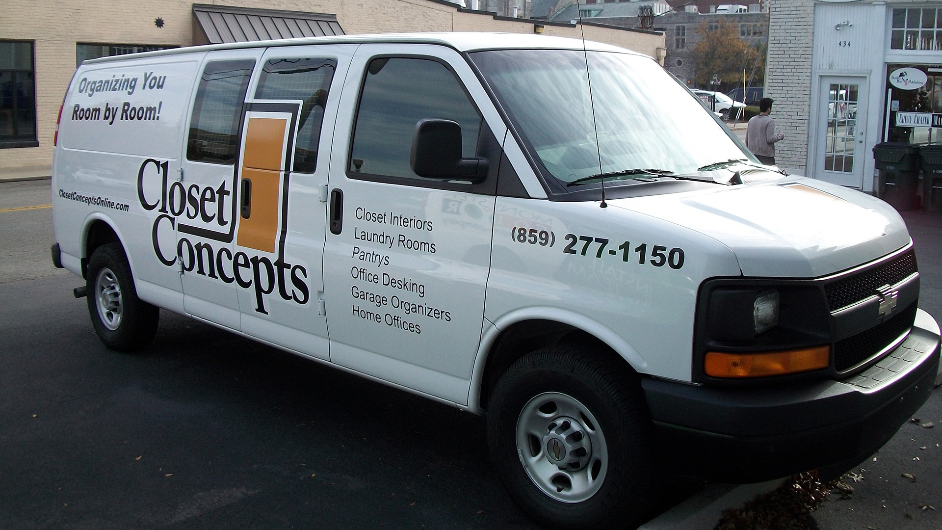 Closet Concepts Vehicle wrap